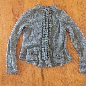 Anthropologie button down sweater